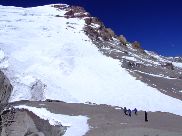 High on the east ridge, Polish Glacier route, Aconcagua