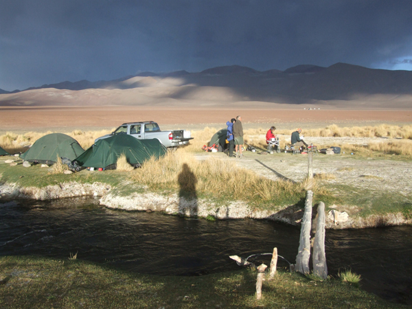Acclimatisation camp at 3500m in the Valle de Chaschuil. We saw a Puma near here the next day.