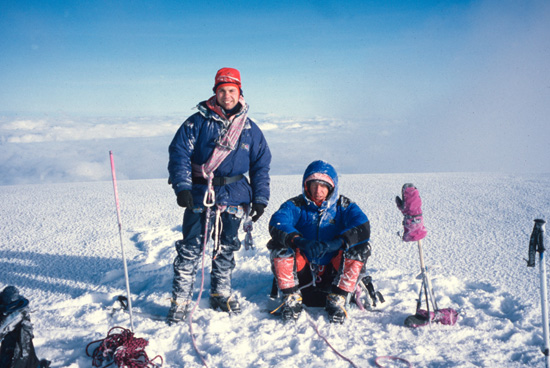 Crossing the plateau towards the summit of Chimborazo