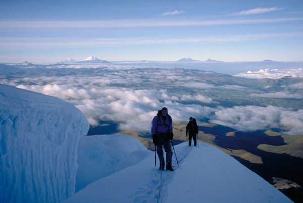 Climbing on Volcan Cayamabe