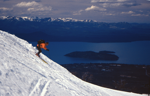 Skiing at Catedral resort above Bariloche.