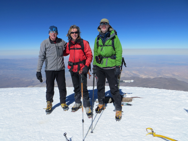 Thoms 20th Andean summit, Chachani in Peru