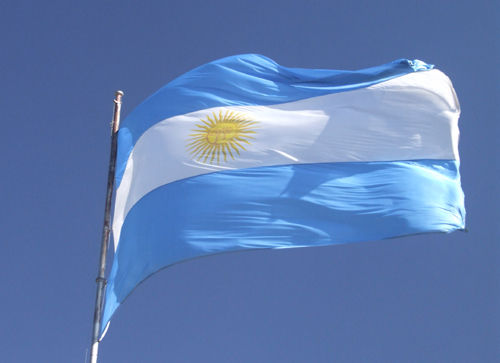 The Argentina Flag, a reflection of the sky.