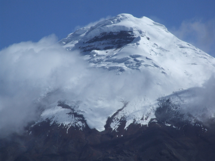 Cotopaxi as seen from the parking area just below the hut