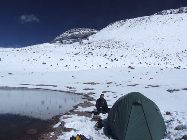 High camp at 6000m on Tres Cruces.